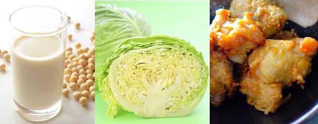 バストアップに効く食べ物が豆乳、キャベツ、鶏肉の理由とは?